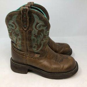 Justin Womens  Tan Jaguar Gypsy Boots cowgirl 7